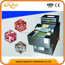 Stainless steel bone and meat cutting machine,Beef chicken meat cube dicer