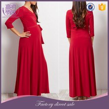 Classy Maternity Clothes Long Sleeve Party Maxi Dress For Pregnancy