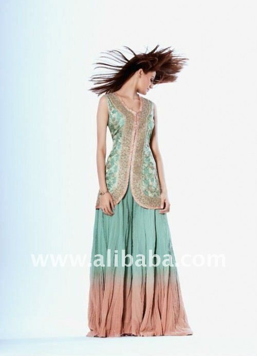 party wear two tone sharara