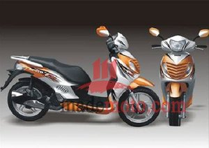 EEC/EPA DOT Approved Gas Motor Scooter Equipped with 4 Stoke 150cc Engine WZMS1526EEC/EPA