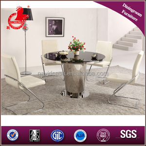 Round plexiglass top dining table
