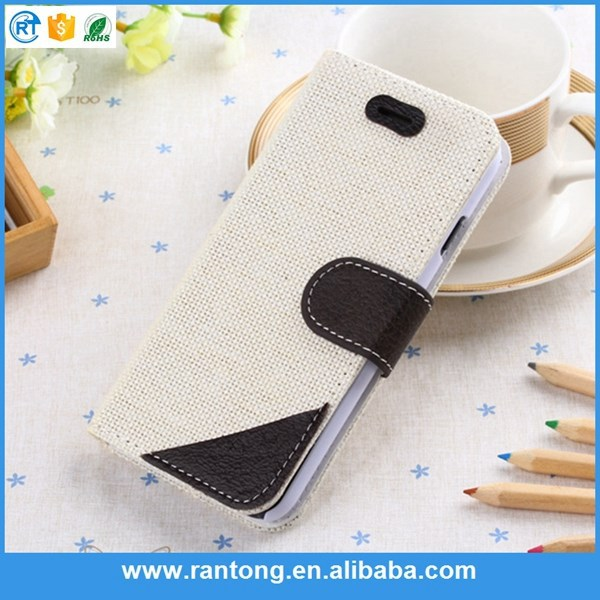Flip pu material leather cell phone case cover for samsung s5 i9600