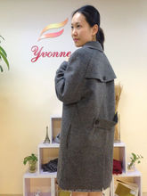 Greyness 2016 special new design style mix fur lady's overcoat