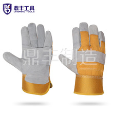 10.5 Inches Patch Palm Gloves Cow Split Leather Personal <strong>Safety</strong> Products