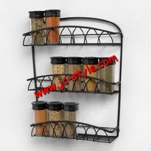 Custom wall-mounted steel wire cabinet/metal mesh storage shelves display rack for household kitchen usage
