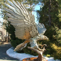 Professional metal eagle sculpture