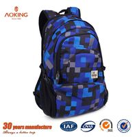 Print reusable personalized casual waterproof light weight school bags for girls/.