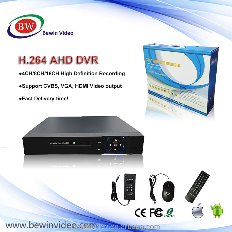 New function Hybrid dvr 4ch 8ch 16ch 32ch HD 1080 free client software h.264 ahd dvr