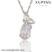 32573 XUPING white diamond clear crystal wedding pendant, fake gold pendant New arrivals Custom Necklace Pendant