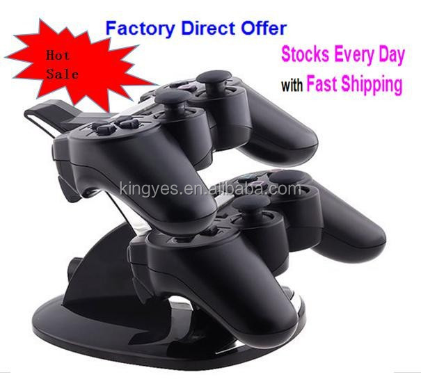 Factory Wholesale Dual charger Controller Charging Stand Charging Dock Compatible for PS3 Controller