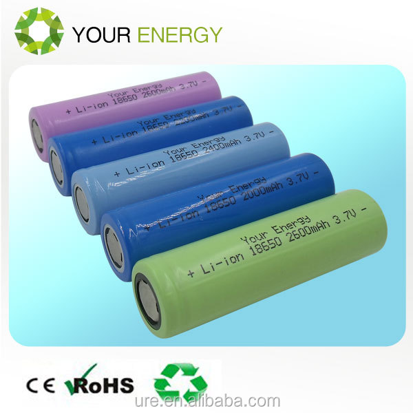 Great power 3.7v cylinder lithium ion battery rechargeable 18650 with tabs in capacity 2000mah