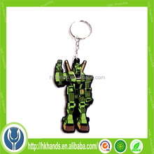 soft PVC rubber keychain / silicone keyring / plastic key chain