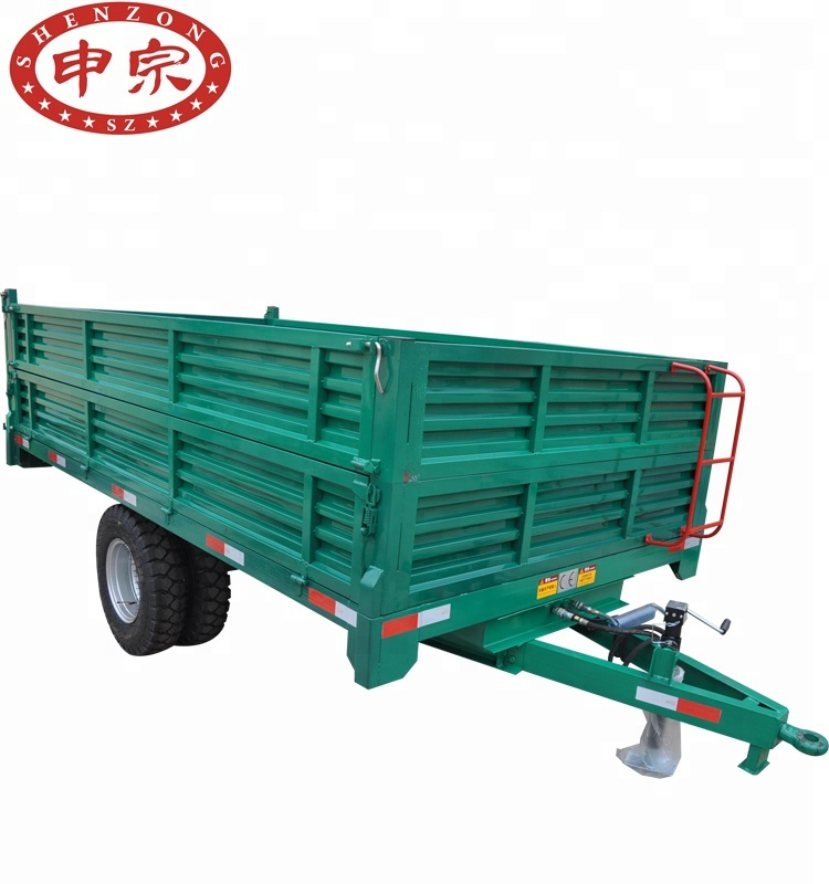 Hot sale single <strong>axle</strong> hydraulic <strong>rear</strong> tipping trailer 5t for tractor