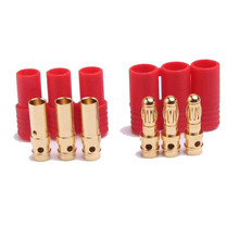 Automotive remote connector 3 way HXT 3.5mm gold plated bullet connector banana plug