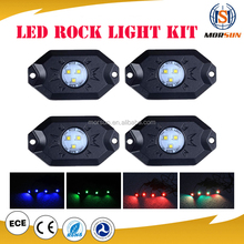 8 Pods Led Rock Light RGB Color Changeable Bluetooth Control Music Flash Offroad led rock light