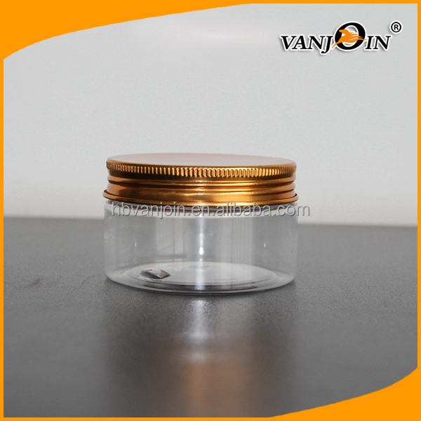 100ml Clear PET Plastic Rice Storage Jar Bottle Food Container with lid