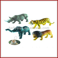 hot kids small plastic tiger elephant lion rhinoceros wild animal model toys
