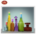 Colorful Candle Holder With LED Light Canvas Painting For Home Decoration
