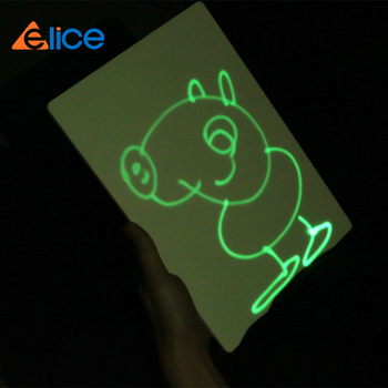 green fluorescent light drawing kids drawing tablet,electronic battery shine pen