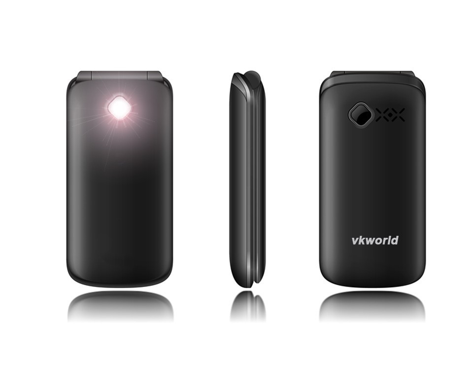 2017 New Product Vkworld Z2 Unlocked Camera 2*Sim 2.4 inch Cheap Hot Selling Function Flip Senior Mobile Phone in China