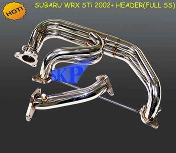 Exhaust Header for SUBARU WRX STI 2002+ (304SS) with stainless steel flange