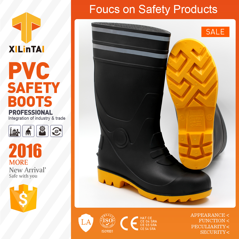 Industrial Safety Boots with Reflective Tape