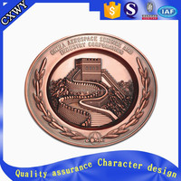 Supply custom metal Coin for the Great Wall Souvenir