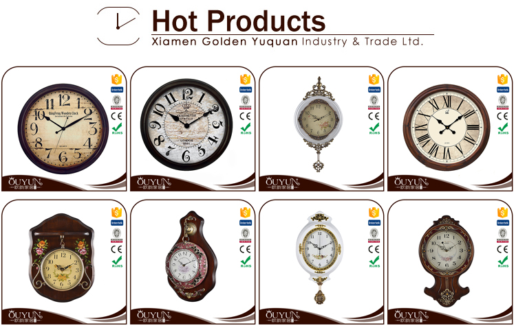 European Antique Wooden Wall Clock Wholesale