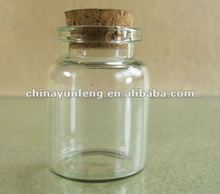 Tiny small clear glass vials,drift bottles with cork