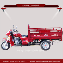 Chinese kavaki motor supply 150cc 200cc tricycle food cart three tyre tricycle car with protection board