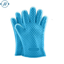 Amazon top selling Silicone Kitchen Cooking Gloves cooking gloves heat resistant Silicone Cooking Baking BBQ Oven Mit