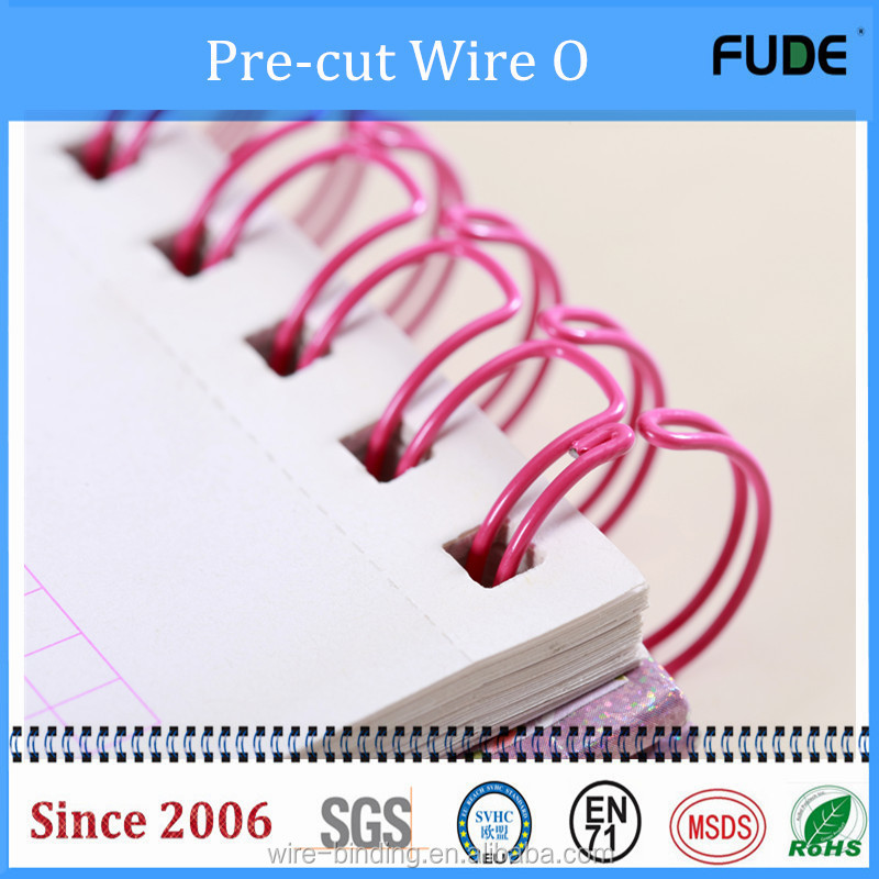Dongguan Factoty 2017 The top sale double loop wire binding & twin ring wire for school & office supplies
