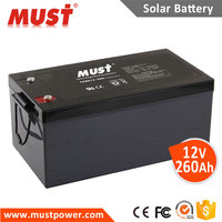 MUST UPS Battery 12V 38ah 65ah 100ah 150ah 200ah 250ah