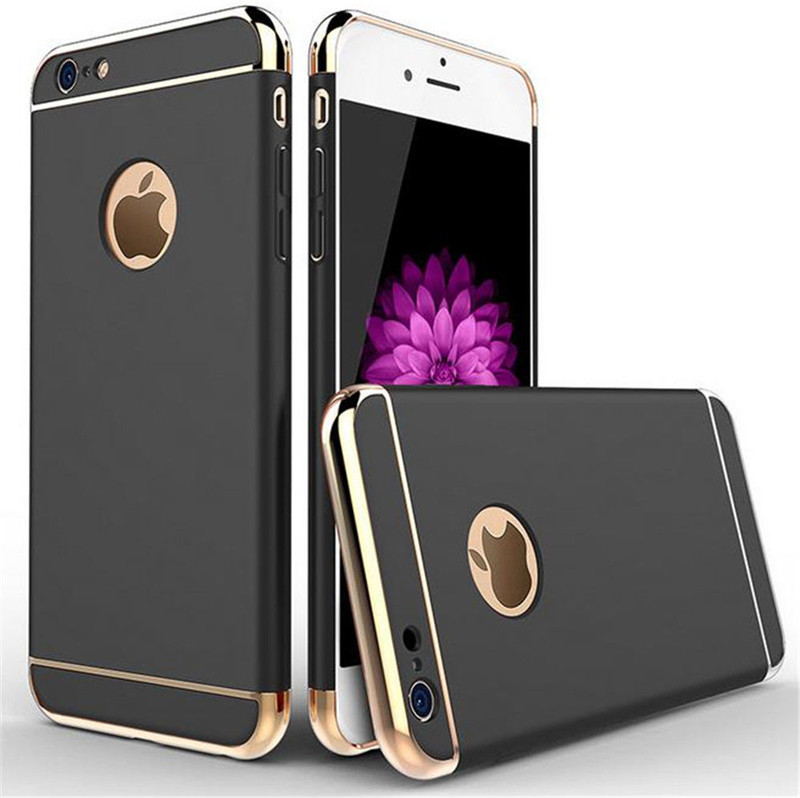luxury 360 Stylish ultra Thin Hard PC mobile phone Case with 3 Detachable Parts for iphone 7 7 plus 6 6 plus