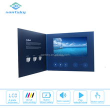 Custom design menu lcd brochure holder display with cardboard counter stand