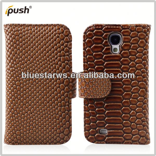 Factory Supply Popular for samsung galaxy s4 wallet hot selling leatehr case
