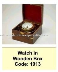 watch in wooden box