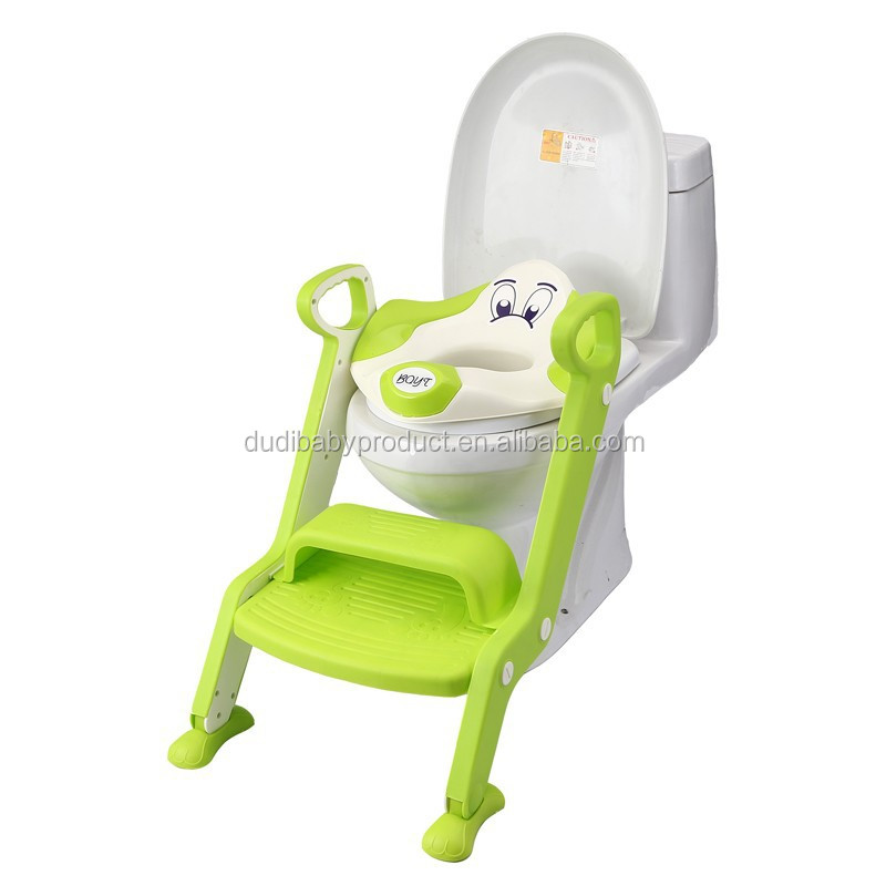 2017 hot selling dog folding toilet seat trainer with ladder plastic baby potty chair