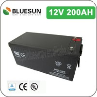 Bluesun ISO CE ROHS UL Certificated 12v 200ah lead acid rechargeable battery