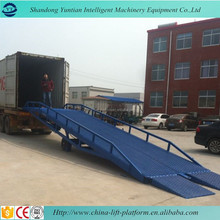 container loading and unloading mobile dock ramp or warehouse used