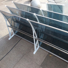 Polycarbonate awnings canopies aluminum frame for restaurant window and door