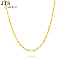 JTS Romantic 24K Pure Gold Plated Starry Sky Chain Necklace Jewelry Women Fashion Accessories 45cm Factory Direct Sale XL321