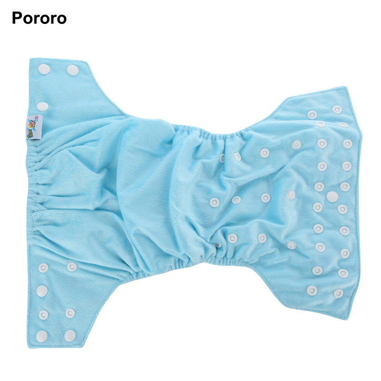 Pororo AI2 design one size fits all pant like baby wearing dream baby cotton textile diaper