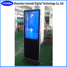 55inch airport stand Windows mini pc hd lcd totem kiosk digital signage display