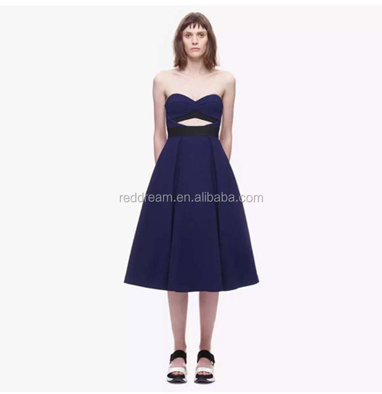 2016 china factory sexy grace girl dress wholesale women one shoulder v-neck cocktail dress BJ04057