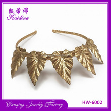 Hair accessories customized wedding princess leaf headband crown elegant bride wedding metal hairbands