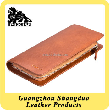 Experienced Guangzhou Manufacture Zipper Closure Leather Wallets Wholesale