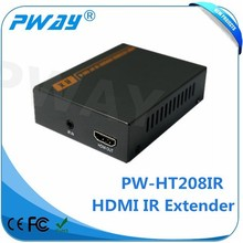 communication equipment Pinwei hot selling PW-HT208 IR 3D Bottom Price 60m HDMI Extender Cat5e x1