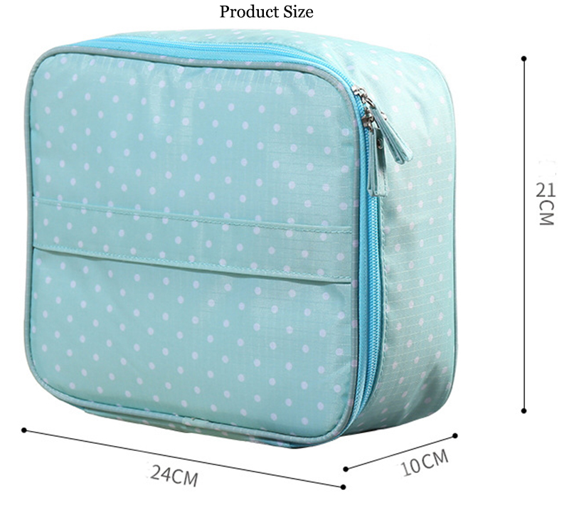 Waterproof Lightweight Clear Cosmetics Travel Makeup Bag with Zippers