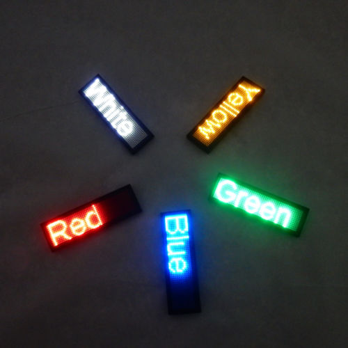 factory price Programmable LED Digital Scrolling Message Name Tag Id Badge